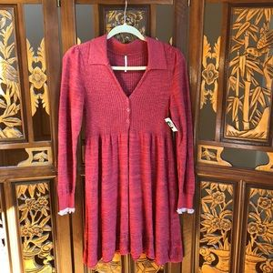 Free People Autumn Knit Dress Size S